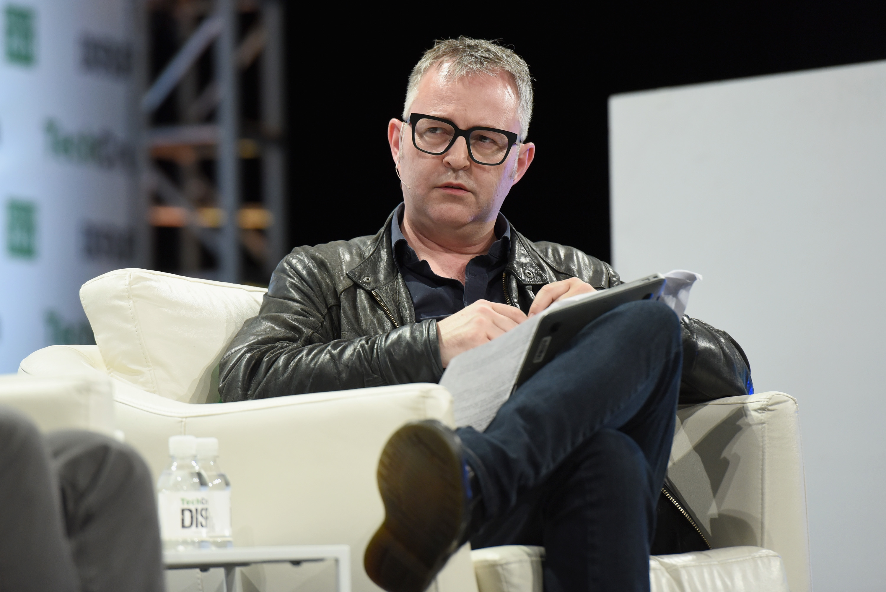 NEW YORK, NY - MAY 10: TechCrunch editor-at-large Mike Butcher speaks onstage during TechCrunch Disrupt NY 2016 at Brooklyn Cruise Terminal on May 10, 2016 in New York City. (Photo by Noam Galai/Getty Images for TechCrunch) *** Local Caption *** Mike Butcher